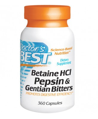Betaine HCl- Pepsin & Gentian Bitters (360 Capsules) - Doctor's Best