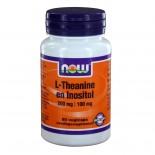 L-Theanine 200 mg met Inositol 100 mg  (60 vegicaps) - NOW Foods