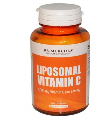Dr. Mercola, Premium Supplements, Liposomal Vitamin C, 1,000 mg, 60 Licaps Capsules