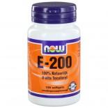 E-200 d-alfa Tocoferyl (100 softgels) - NOW Foods