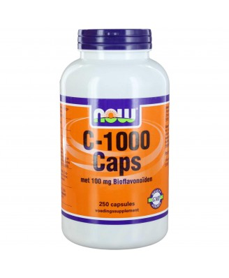 C-1000 Caps met 100 mg bioflavonoïden (250 capsules) - Now Foods