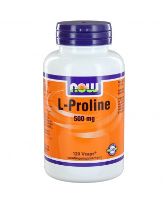 L-Proline 500 mg (120 vegicaps) - NOW Foods