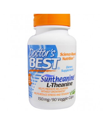 Aminozuren - Doctor's Best, Suntheanine L-Theanine, 150 mg, 90 Veggie Caps