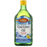 Wild Norwegian Cod Liver Oil- Natural Lemon (500 ml) - Carlson Laboratories