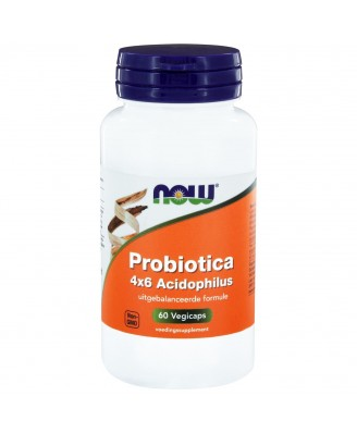 Probiotica 4x6 Acidophilus (60 vegicaps) - NOW Foods