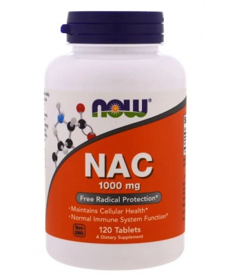 NAC 1000 mg (120 tablets) - Now Foods