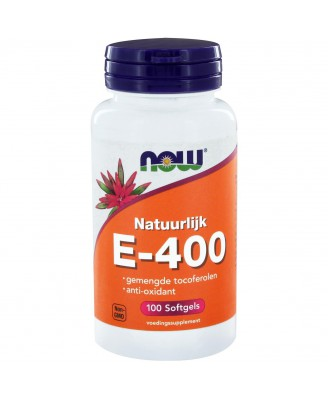 Now Foods, E-400, 100% Natural Mixed Tocopherols, 100 Softgels