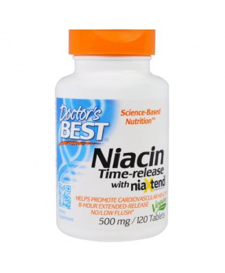 Doctor's Best, Real Niacin, 500 mg, 120 Tablets