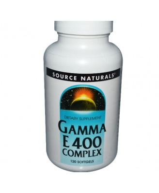 Source Naturals, Gamma vitamine E 400 Complex, 120 Softgels