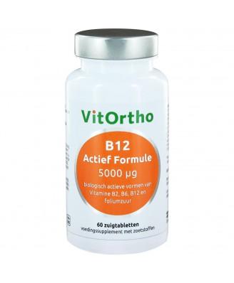 B12 Actief Formule 5000 µg (60 zuigtabs) - VitOrtho