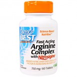 Fast Acting Arginine Complex with Nitrosigine, 750 mg (60 Tablets) - Doctor's Best