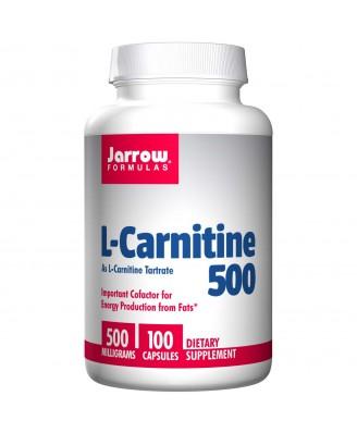 L-Carnitine 500, 500 mg (100 Capsules) - Jarrow Formulas