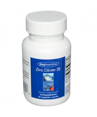 Zinc Citrate 25 60 Veggie Caps - Allergy Research Group