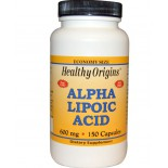 Alpha Lipoic Acid 600 mg (150 Capsules) - Healthy Origins