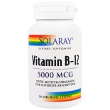 Vitamin B12 5000 mcg (30 lozenges) - Solaray
