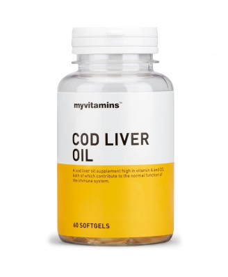 Cod Liver Oil (180 Softgels) - Myvitamins