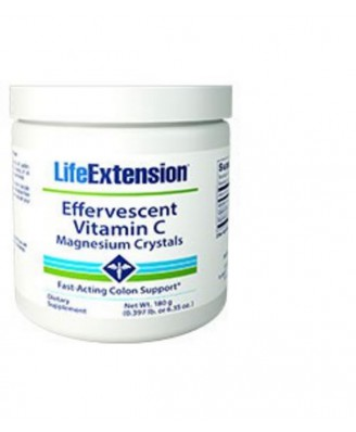 Effervescent vitamin c - magnesium crystals  180 g - Life Extension