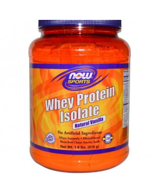 Whey Proteine Isolaat Vanille (816 gram) - Now Foods