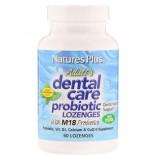 Adult Dental Care Probiotic With M18 - Natural Peppermint Flavor (60 Lozenges ) - Nature's Plus