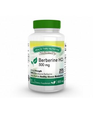 Berberine HCl 500 mg (non-GMO) (60 Vegicaps) - Health Thru Nutrition