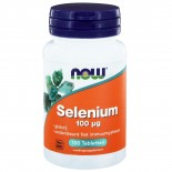 Now Foods, Selenium, gist gratis, 100 mcg, 100 tabletten