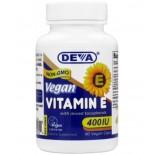 Vegan plant source vitamin E with Mixed Tocopherols 400 IU (90 capsules) - Deva