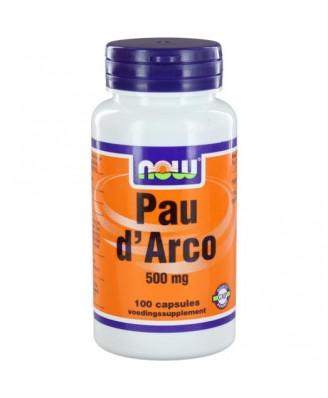Now Foods, Pau D' Arco, 500 mg, 100 Capsules