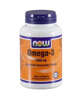 Omega-3 1000 mg (100 softgels) - Now Foods