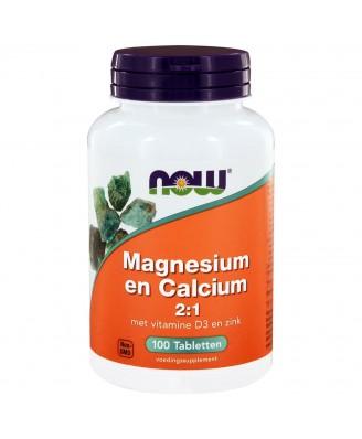 Magnesium en Calcium 2:1 (100 tabs) - NOW Foods