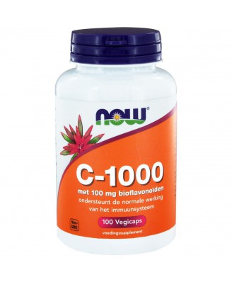 C-1000 Caps met 100 mg Bioflavonoïden (100 vegicaps) - NOW Foods
