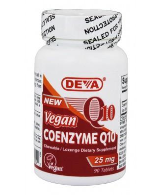 Vegan Coenzyme Q10 25 mg (90 Tablets) - Deva