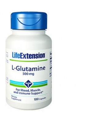 l-glutamine, 500 mg 100 capsules - Life Extension