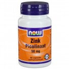 Now Foods, zink picolinaat, 50 mg, 60 Capsules