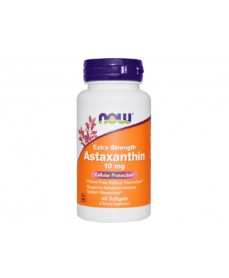 Astaxanthin 10 mg (60 Softgels) - Now Foods