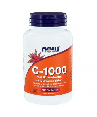 C-1000 met Rozenbottel & Bioflavonoïden (100 tabs) - NOW Foods